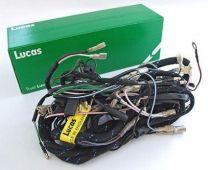 Wiring Harness, Main, Triumph T90, T100, T120, TR6. 1968, Genuine Lucas