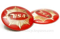 Tank Badges, BSA Gold Star, Red, 65-8228, 65-8193