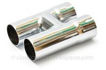 Exhaust H Piece Balance Pipe, Triumph TR6C, T100C, 70-9673
