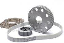 Belt Drive Kit, Triumph Pre-Unit Rigid Framed Models, Alloy Drive Plates