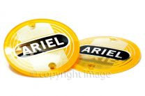 Tank Badges, Ariel Singles, Twins, Square 4, Yellow, 1954-59, 5004-56