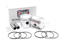 Pistons, Triumph 5T Pre-unit, 63 mm +040 7:1, LF Harris UK Made 70-1563 CP29/040