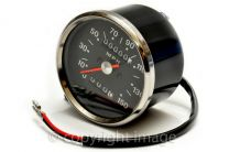Speedometer, BSA, Triumph, 1970-78, 1.25:1 ratio, Black, MPH, 60-2394